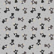 Lewis & Irene - Small Things Mythical & Magical - 5923 - Wizards on Grey - SM10.1 - Cotton Fabric